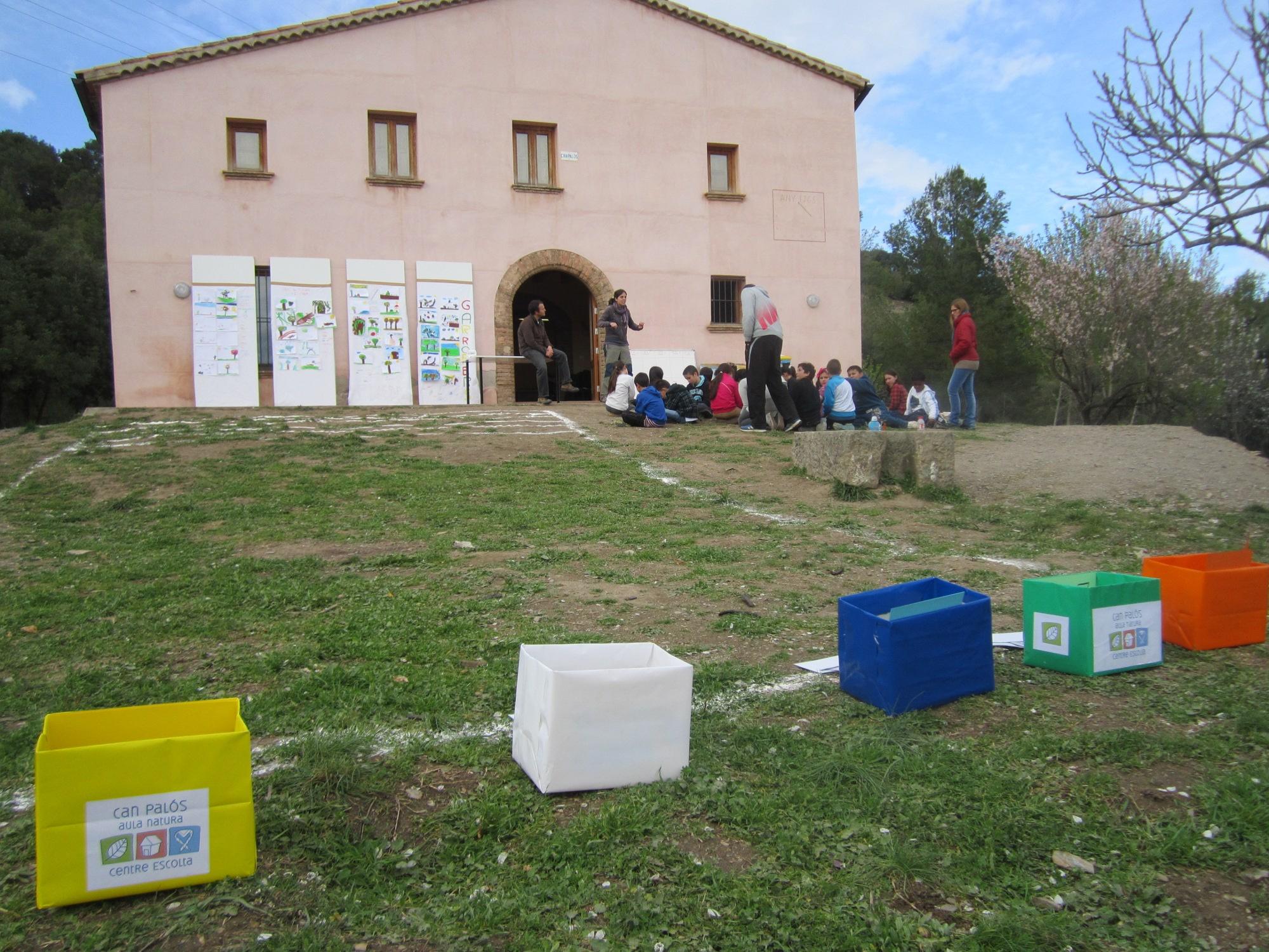 Imatge d'activitat escolar a Can Palós